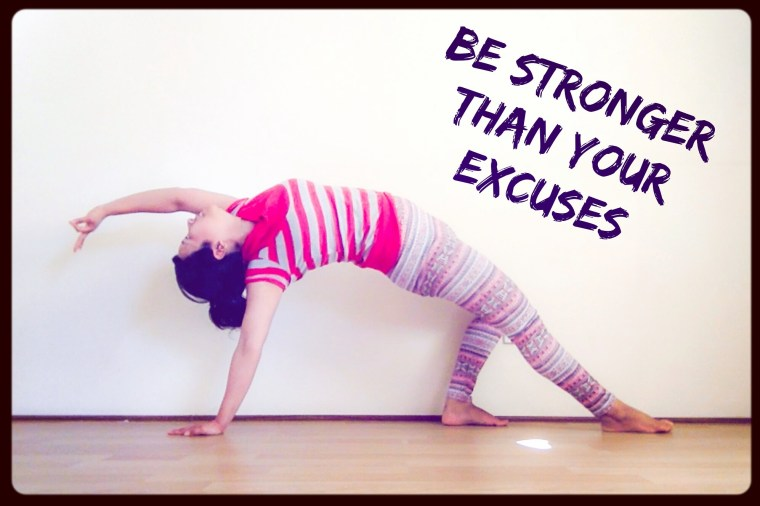 fitness motivation quote - yoga pose