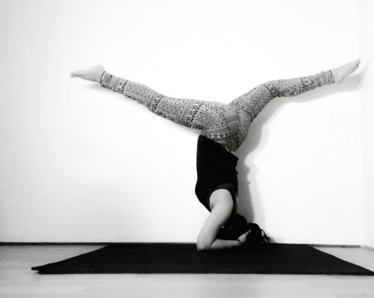 headstand with splits