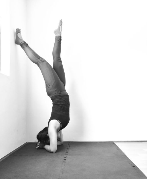 yoga inversion forearm stand