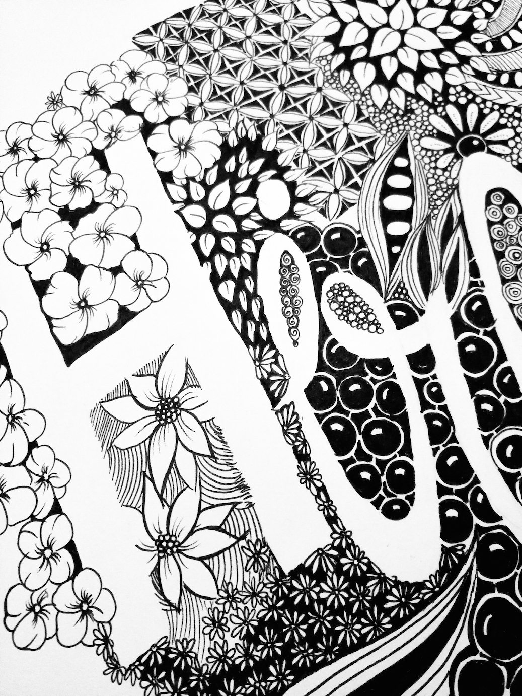 Zentangle Designs and Patterns | Typography | Hiraeth