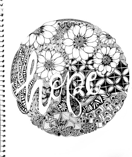 Step by step tutorial on how to draw Zentangle artwork