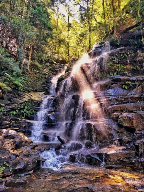 sylvia waterfalls blue mountains national pass