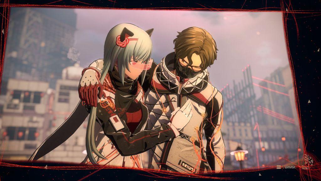 Scarlet Nexus Kasane y Shiden se aman.