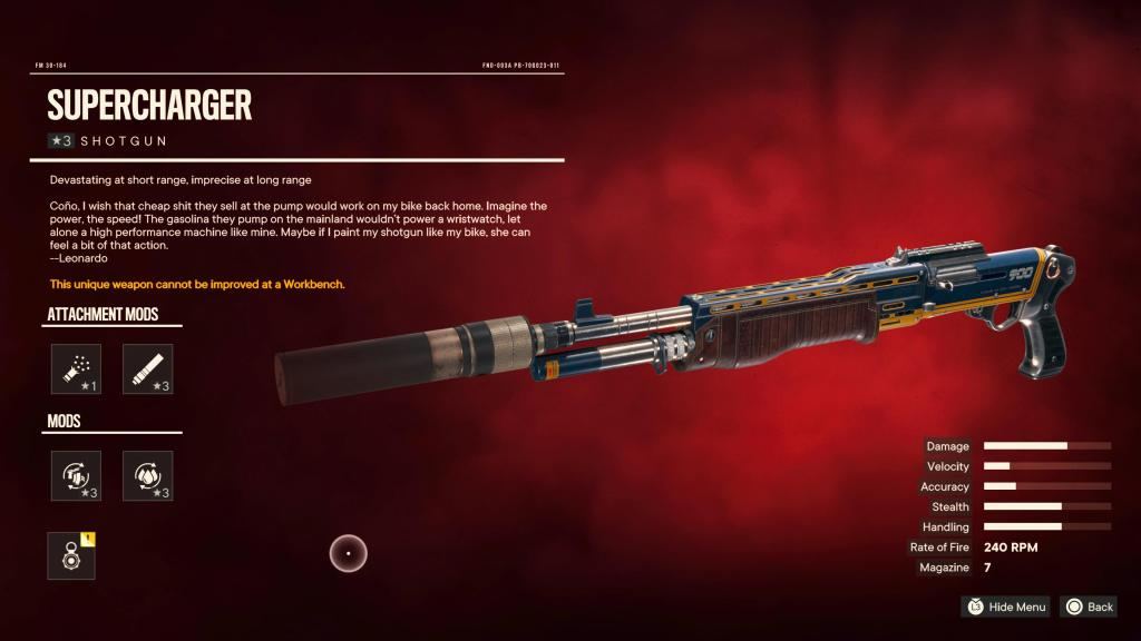 Far Cry 6 - escopeta supercharger