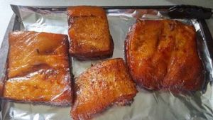 4 slabs of bacon