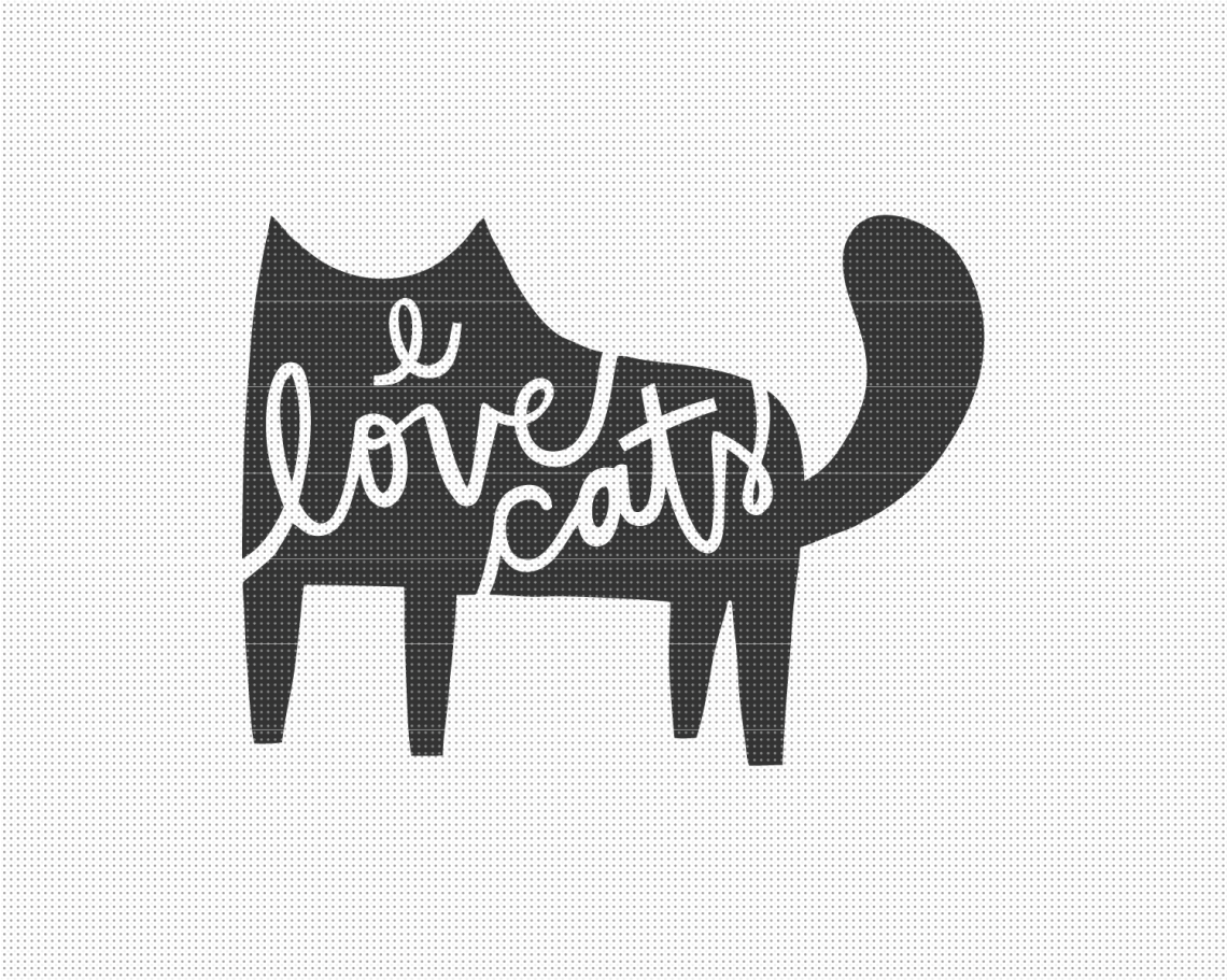 Download I Love Cats SVG File - Pixelcolours