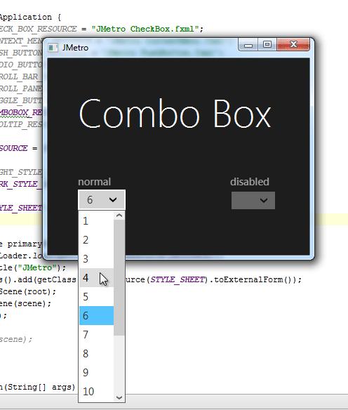 metro style combobox (dark theme) 2