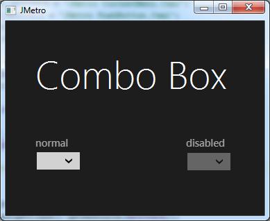 metro style combobox (dark theme)