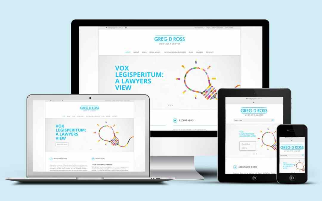 Greg D Ross suits up with a new website