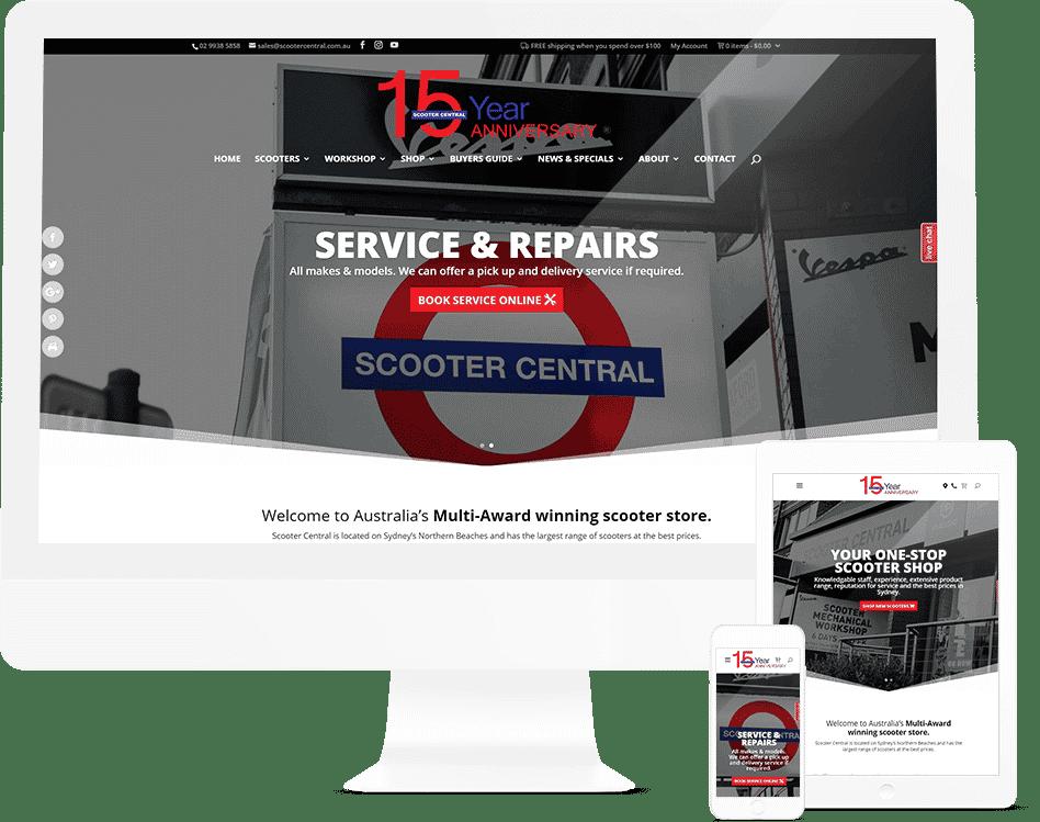 Scooter Shop Website Design