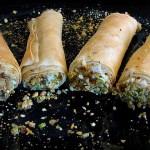 Involtini di Pasta Fillo con Caprino e Pistacchi al Profumo d'Arancia