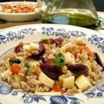 Farro Freddo con Pomodorini, Olive e Scamorza Affumicata