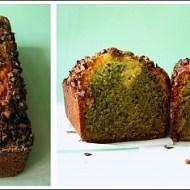 Cake al Cioccolato Bianco Variegato al Tè Matcha con Pistacchi