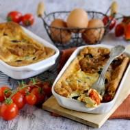 Clafoutis di Pomodorini con Olive e Capperi