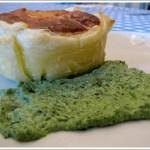 Tortino di Sfoglia al Parmigiano con Salsa di Spinaci