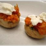 Champignon Ripieni di Pomodoro e Ricotta Salata