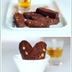 Cantuccini al Cacao con Cioccolato Bianco e Pistacchi