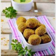Polpettine al Forno di Carote al Curry con Maionese al Prezzemolo