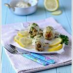 Seppie Ripiene di Cous Cous con Zucchine, Piselli e Carote
