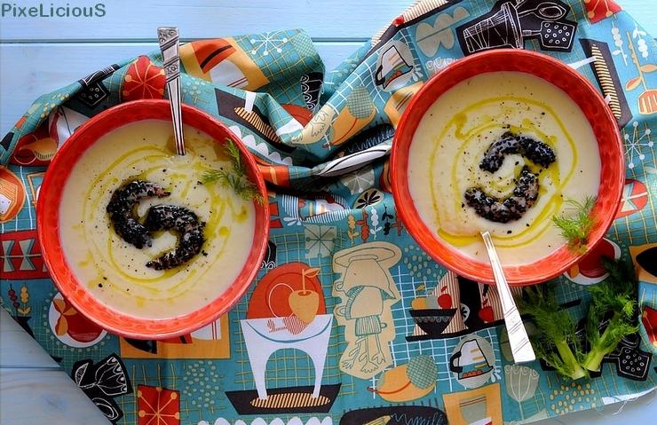 vellutata finocchi mazzancolle sesamo nero 3 72dpiok