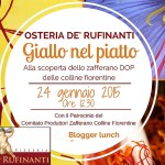 Giallo nel Piatto, Blogger Lunch all'Osteria de'Rufinanti di Pontassieve (FI)