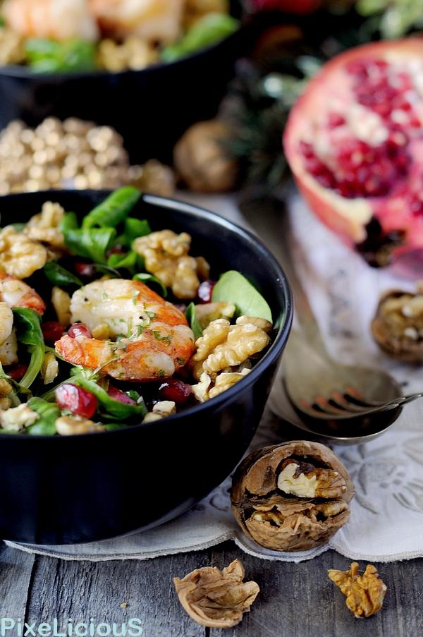 insalata valeriana melagrana gamberi noci 2 72dpi