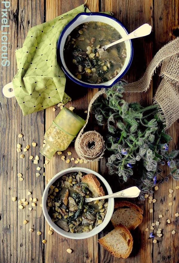 zuppa cicerchie porcini borragine 3 72dpi