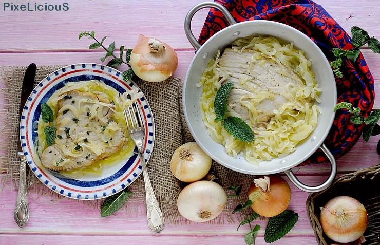 Tùnnina cà Cipuddata (Filetto di Tonno con Cipolle in Agrodolce e Menta)