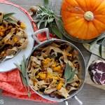 Tagliatelle di Farro con Zucca, Capocollo e Salvia