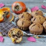 Muffins Cachi e Cioccolato Fondente