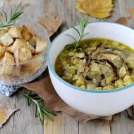 Zuppa di Cicerchie e Porcini al Rosmarino