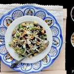 Insalata di Quinoa con Rucola, Formaggio di Capra, Nocciole e Melagrana