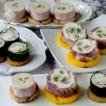 Rolls con Salumi, Formaggi e Verdure