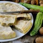 Torta Rustica con Zucchine, Provola e Noci
