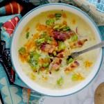 Potato Soup (con Cheddar e Bacon)