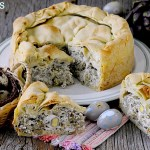 Torta Pasqualina ai Carciofi con Uova di Quaglia