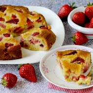 Torta Morbida alle Fragole (Crustless Strawberry Pie)