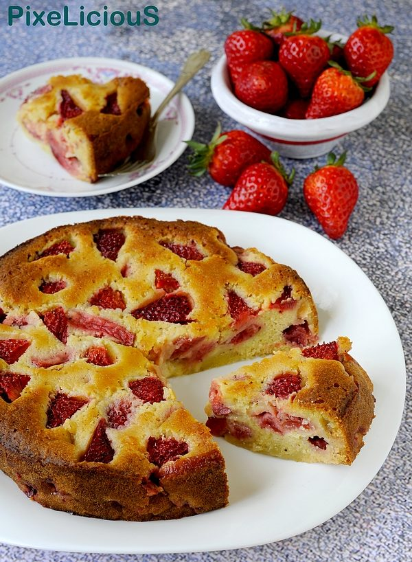 torta morbida alle fragole crustless strawberry pie