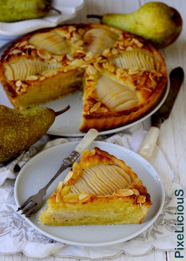 Tarte Bourdaloue: Crostata Francese con Crema Frangipane al Rhum e Pere Caramellate