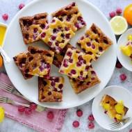 Torta al Limone con Lamponi e Salsa al Mandarino