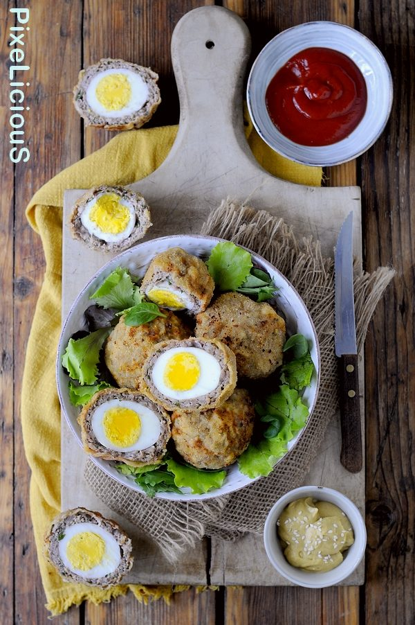 Scotch (Scottish) Eggs - Polpette di Salsiccia Ripiene di Uova
