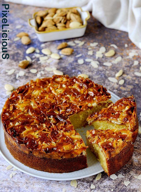 tosca cake, torta svedese alle mandorle e caramello