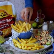 Spiedini di Gamberi al Burro, Lime ed Erbe Aromatiche con Le Patatine Originali McCain