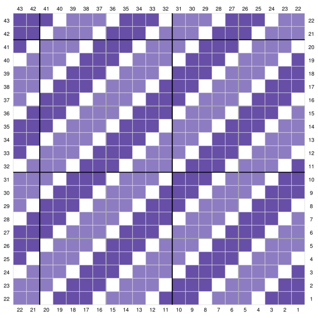 Pretty Purple Crochet Stripes
