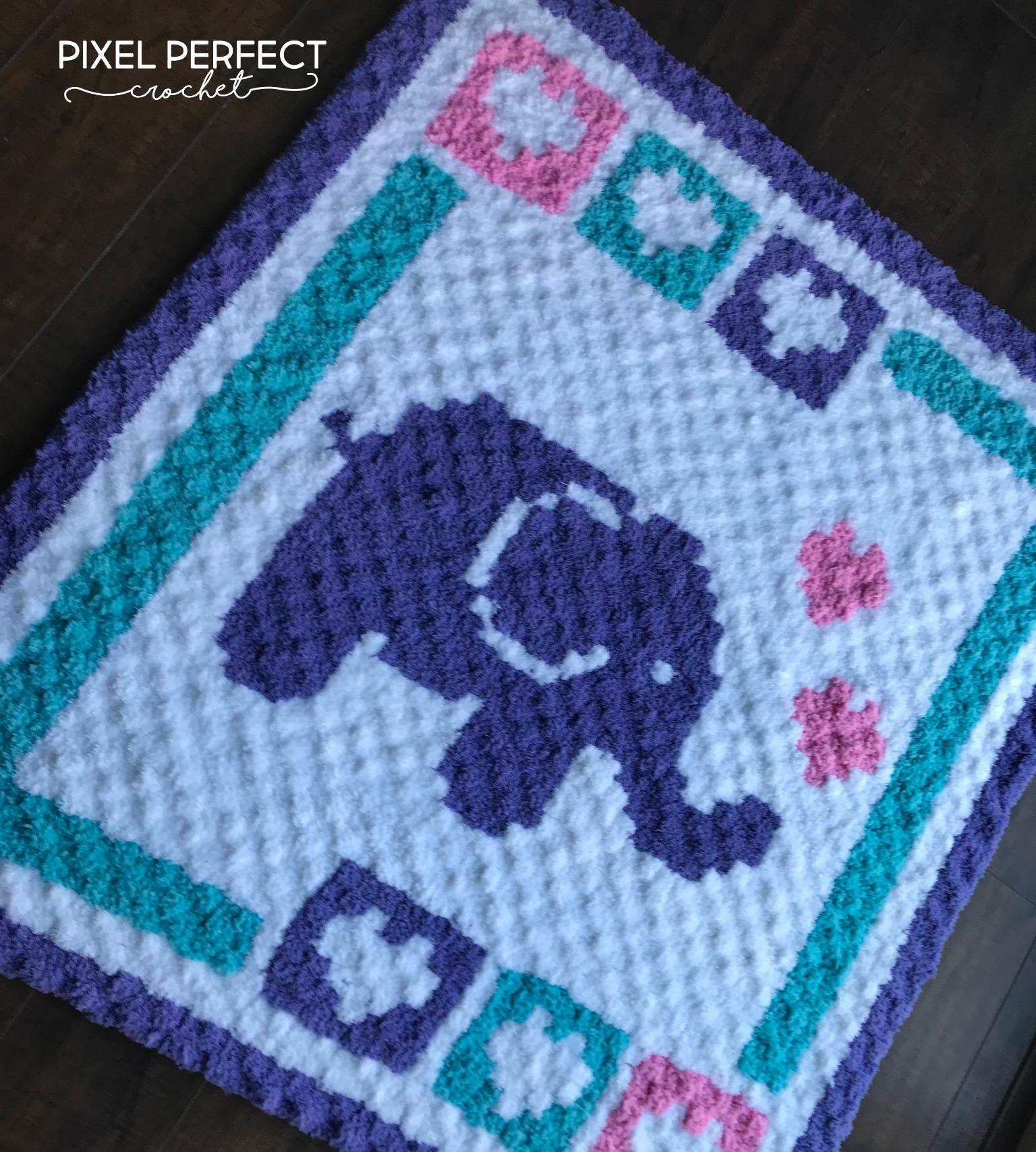 Elephant Blanket Free Crochet Pattern - Yarn & Hooks | 1708x1536