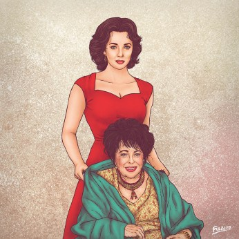 Ilustrações incríveis de celebridades e seus 'eus' mais jovens