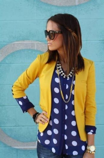 Looks inspiradores Amarelo + Azul
