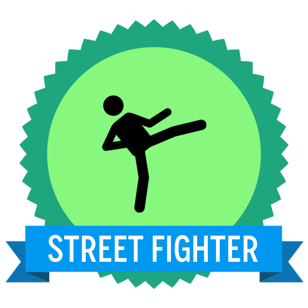 """Badge icon """"Martial Arts (1924)"""" provided by The Noun Project under Creative Commons CC0 - No Rights Reserved"""
