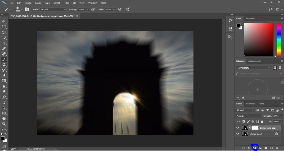 Mastering Zoom Burst Photography : Zoom Burst Effect in Photoshop