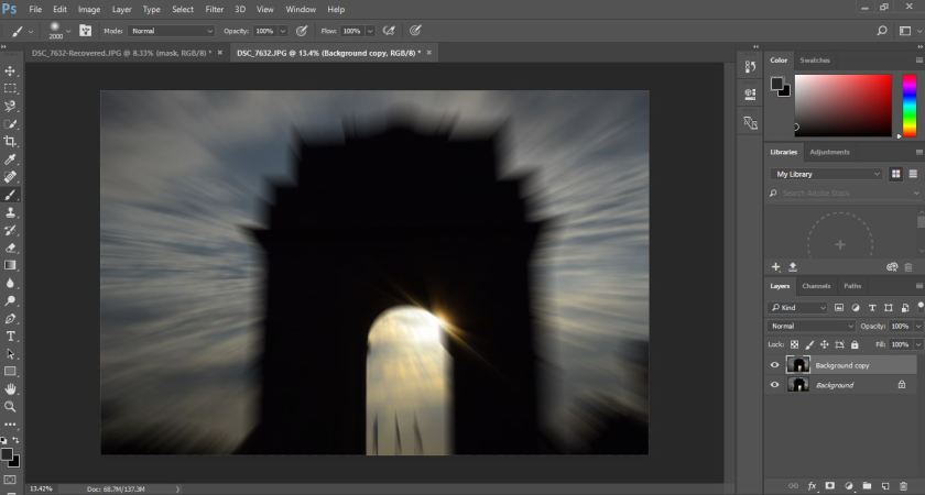 Zoom Burst Effect in Photoshop